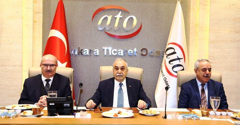 Bakan Fakıbaba, ATO'da yem ve hayvancılık sektör temsilcileriyle buluştu