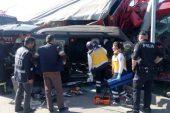 Trafik kazasında 1 kişi öldü, 2 kişi yaralandı 58 küçükbaş hayvan telef oldu