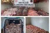 Van'da kaçak et operasyonu