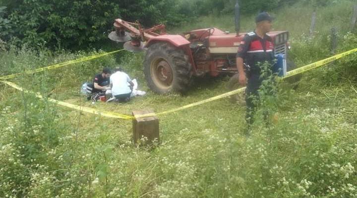 Traktörle ot biçerken can verdi