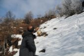 Keçilerini beslemek için her gün 8 kilometre yol gidiyor