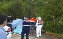 Çay işçilerinin otomobili direğe çarpıp, alev aldı: 3 ölü, 1 yaralı