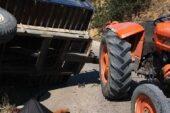 Kütahya'da traktör şarampole devrildi: 2 ölü
