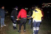 Arpa yüklü TIR yan yattı: 2 ağır yaralı
