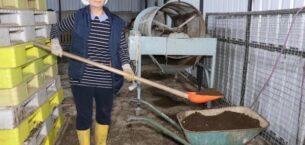 Eskihükümlü 18 bin lira hibeyle kurduğu tesiste solucan gübresi üretiyor
