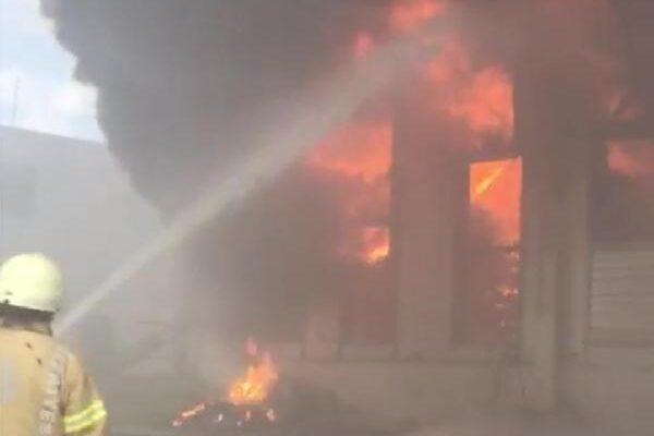Silivri'de tavuk çiftliğinde yangın
