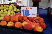 Bahçede kilosu 5 lira olan şeftali ve nektarin markette 18 lira